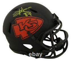 Travis Kelce Autographié/signé Kansas City Chiefs Eclipse Mini Casque Bas 27658