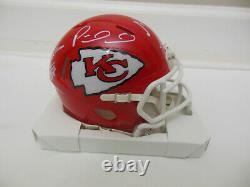 Travis Kelce Patrick Mahomes Tyreek Hill Signé Kansas City Chiefs Mini Helmet