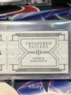 Trésors Nationaux 2018 Patrick Mahomes Treasured Patches 06/25 #tpb-pm Livre