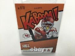 Tyreek Hill 2020 Absolute Kaboom Insert K-th Rare Card! Chefs De La Ville Du Kansas