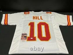Tyreek Hill Kansas City Chiefs Signé White Custom Jersey Jsa Witness Coa Champs