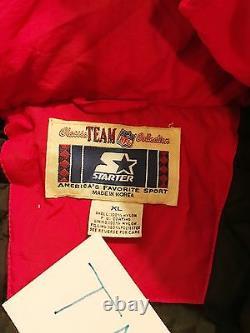 Vintage 90s Kansas City Chefs Hooded Starter Seven Full Zip Jacket Mens XL