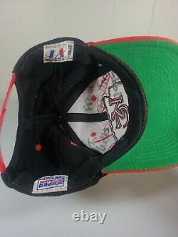 Vintage 90s Kansas City Chiefs Logo Athletic Sharktooth Snapback Hat Cap NFL